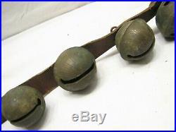 Antique Graduated Set Bronze/Brass Sleigh Neck Jingle Bells Horse Equestrian A