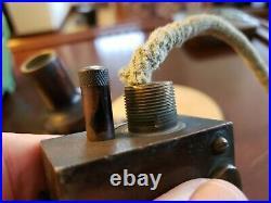 Antique Guinco 1925 Bell Shaped Brass Tabletop Cigar Lighter