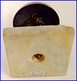 Antique HOTEL BRASS COUNTERTOP FRONT DESK SERVICE BELL Marble Base Great Patina