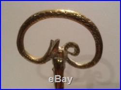Antique Half Bell Brass Serpent Handle Rope Door Porter Doorstop