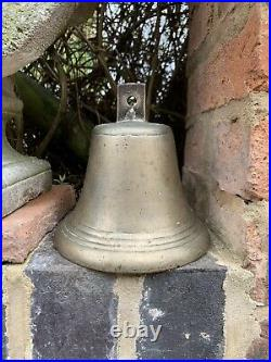 Antique Hand Crafted Big Brass Hindu Ritual Holy Temple Roof Hanging School Bell