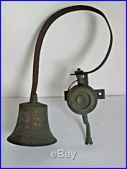 Antique Hanging Country Store Brass Door Bell
