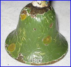Antique Hubley Cast Iron & Brass Bell Parrot Figural Bird Dinner Bed Call Bell