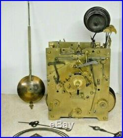 Antique J. Condliff Liverpool Triple Fusee Bracket Clock 8 Bell Brass Movement