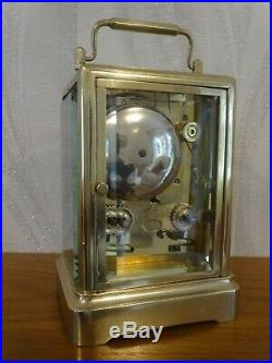 Antique Japy one-piece bell striking carriage clock c. 1860 overhauled 05/19