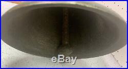 Antique Large Brass or Bronze School Farm Church Dinner Bell 9 inch diameter