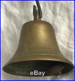 Antique Newport RI Servants Butler Maids Brass Bell Hardware General Store
