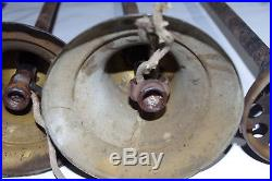 Antique Old Brass Bell-Shaped Hanging Ceiling Light Fixture Parts