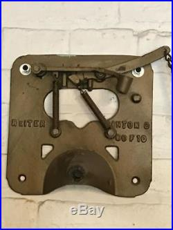Antique Old School Pull Alarm All Brass Reiter 10 Fire Bell