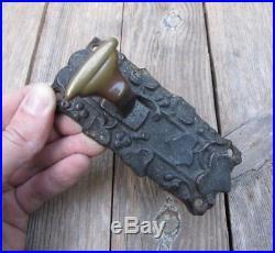 Antique Ornate Brass Door Bell Pull