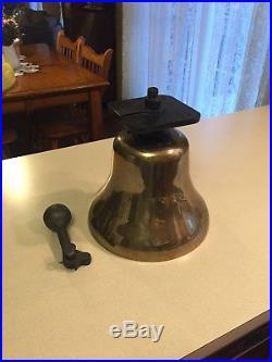 Antique RAILROAD Brass LOCOMOTIVE BELL PRR ALTOONA DIESEL STEAM TRAIN GORGEOUS