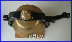 Antique RR Solid Brass Railroad Engine Bell Cast Iron Cradle & Yolk RARE
