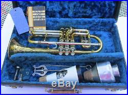 Antique Rare Engraved Bell Victor Special C. G. Conn Cornet 1940