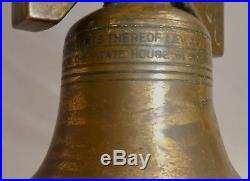 Antique SOLID BRASS LIBERTY BELL Lighter. Replica wEngraved Words. Works Well. 1826
