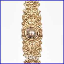 Antique STUNNING VICTORIAN Push Button Doorbell Door Bell Electric Brass Vtg