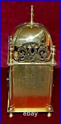 Antique Schatz Brass Large Lantern Clock Bell Chiming Working