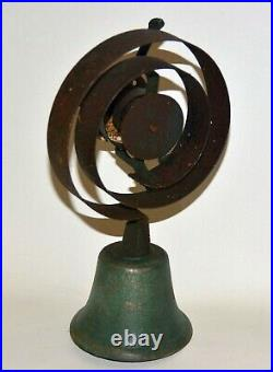 Antique Servants Bell Complete with Spring and Mounting Plate Nice Ring