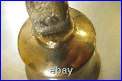 Antique Servants / Butler / Maids Mechanical Brass Door Bell diameter ref 4