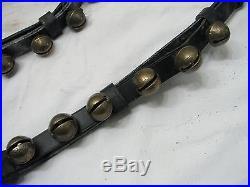 Antique Set 38 Brass/Bronze Sleigh Neck Bells Equestrian Horse Musical