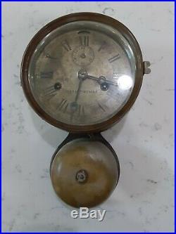 Antique Seth Thomas Brass Bottom Bell Ship's Clock