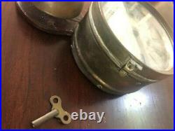Antique Seth Thomas Brass Outside Bell Ships Clock Ca. 1870-1880s