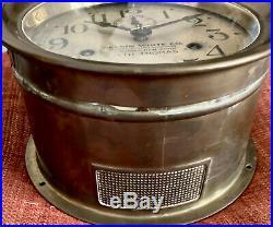 Antique Seth Thomas Ship Bell Clock 7 Kelvin White Co. Boston, New York as-is