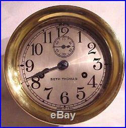 Antique Seth Thomas Ships Bell Clock 1907