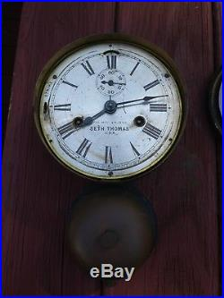 Antique Seth Thomas ships clock with external bell