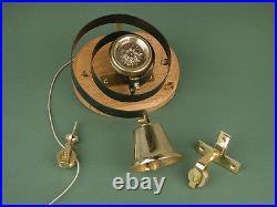 Antique Solid Brass Flower Butlers Bell Mounted On An Oak Board Warwick Reclamat