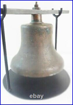 Antique Solid Brass PRR Locomotive Bell C. 1870's Wonderful Patina