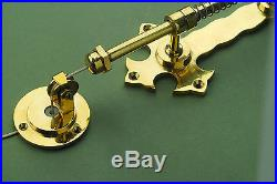 Antique Solid Brass Winchester Butlers Bell Pull Warwick Reclamation