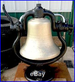 Antique Steam Locomotive Bronze Or Brass Bell Very Old Heavy & LOUD Works Well