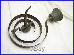 Antique Store Door Spring Bell Brass Bronze Wire Hardware General Servants