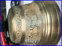 Antique Swiss Albertano LaSarraz Brass Bell