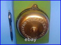 Antique Taylors Patent 1860 Brass Door Bell With Handle
