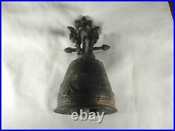 Antique Thai Bell Elephant Brass Clapper Sound Temple Hanging Decor Collect #4