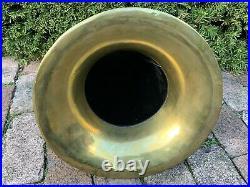 Antique VICTOR EDISON TALKOPHONE Original DISC Phonograph Brass Bell Horn Patd