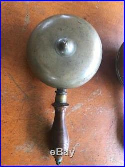 Antique Victorian 1800's Fire Fireman's Brass Muffin Bell Alarm Horn
