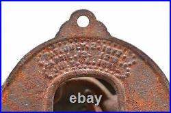 Antique Victorian 1800s Brass Door Bell Ornate Vintage Entry Hardware
