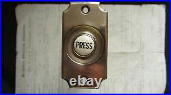 Antique Victorian Brass & China Electric Door Bell Push
