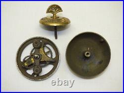 Antique Victorian Brass & Iron Entry Door Bell Crank Turn Twist Key Knob WORKS