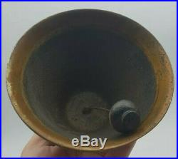 Antique Victorian Brass Servants Butlers Shop Room Bell c1890 LARGE