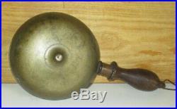 Antique Victorian Ca 1868 Fireman's Hand Held Brass Muffin Fire Alarm Bell