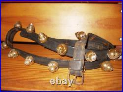 Antique Victorian Farmhouse Rare Acorn Shape Brass Sleigh Ride Bells