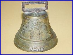 Antique Vintage 3 1/2 High 1878 Saignelegier Chiantel Fondeur Brass Bell