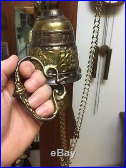 Antique Vintage French Brass large gilt Front Door Hand Ringing Loud Bell