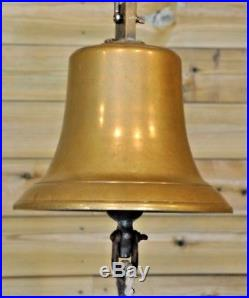Antique Vintage Large 11½ Cast Brass/Bronze 28lbs Bell with Clapper, Ships
