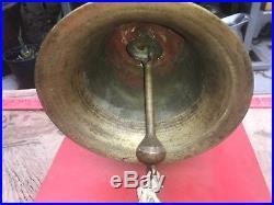 Antique Vintage Large Heavy Loud Brass Bell, Ship, Fire, School, Ranch