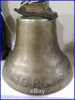 Antique Vintage Maritime Brass Chelsea Ships Bell FM MATTSSON for the ship MORA