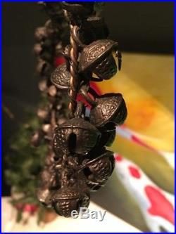 Antique, Vintage, Old Brass/Metal sleigh bells 50 Bells Sound Amazing